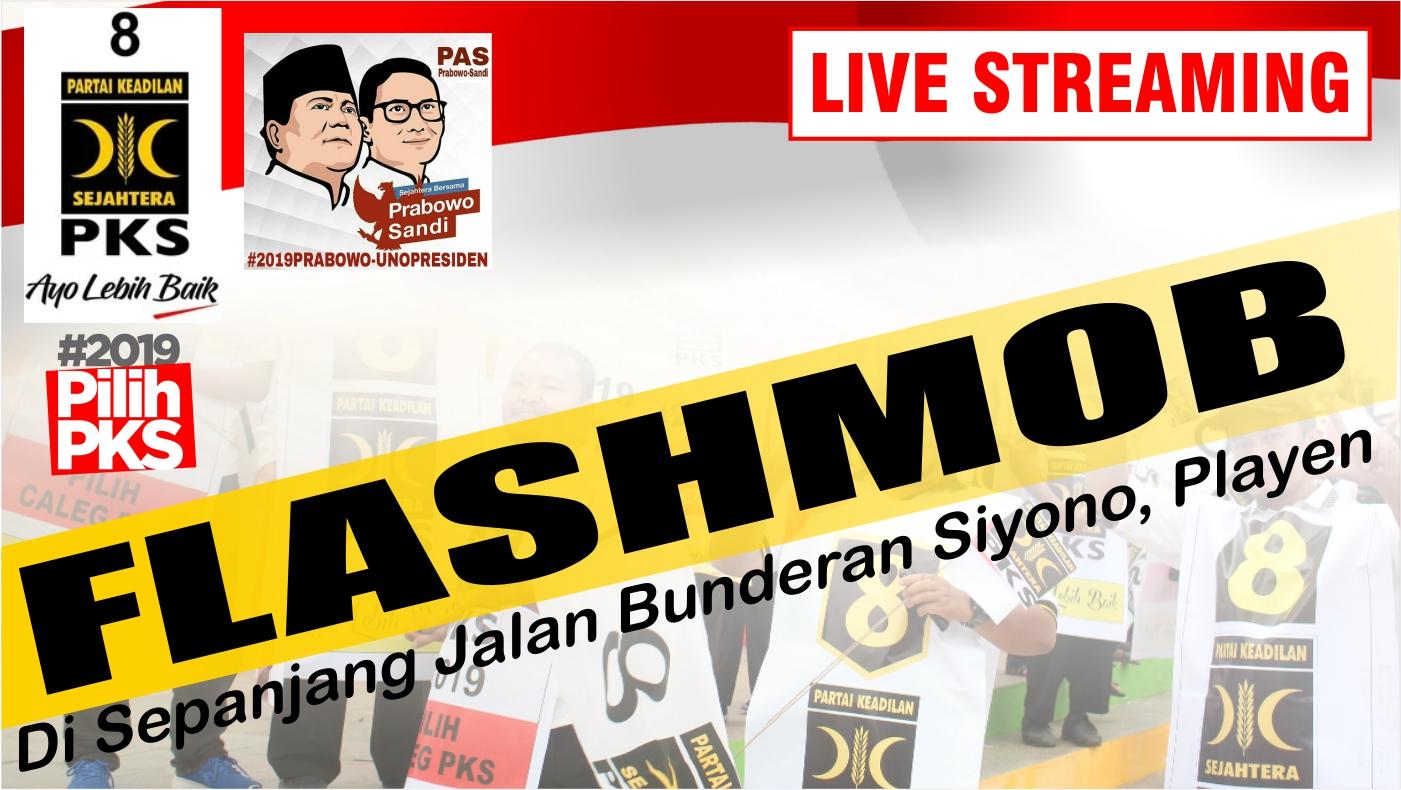 Flashmob , Senam massal dan Kampanye terbuka Partai Keadilan Sejahtera ( PKS ) Gunungkidul